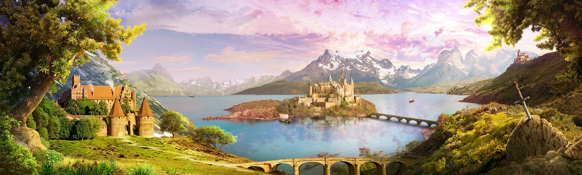14 Островной замок на горном озере