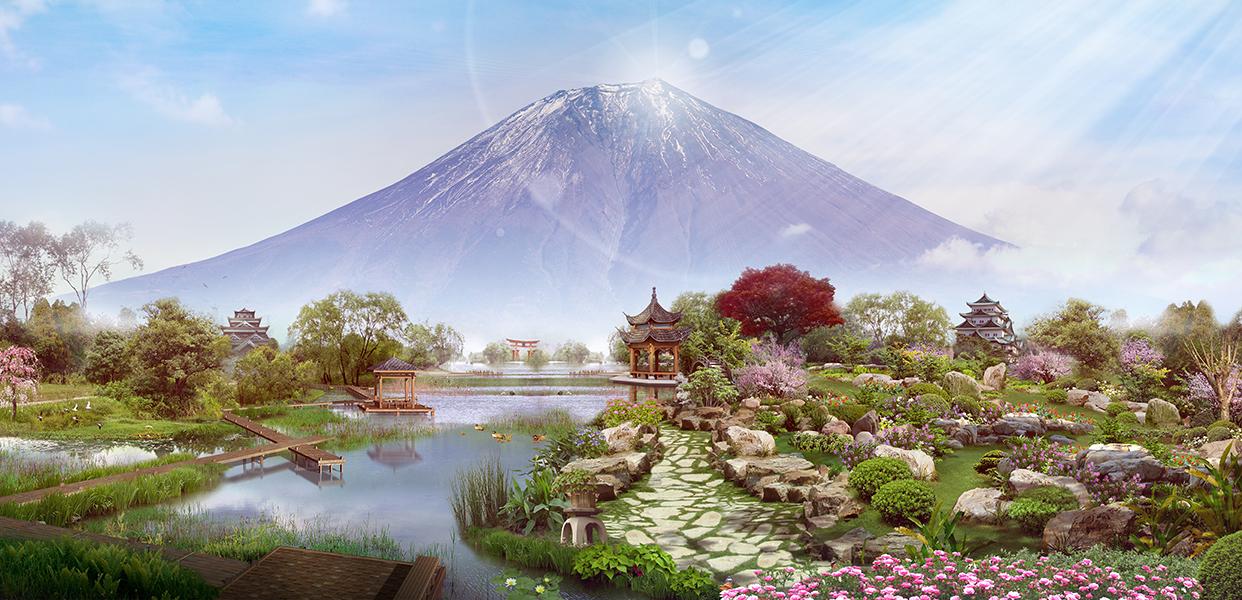 15 Сад у подножия Фудзиямы