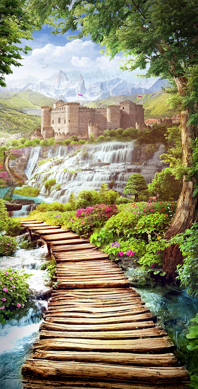 24 Лесной ручей и вид на замок