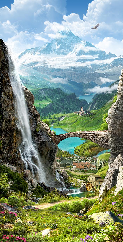 25 Норвежские фьорды и горы
