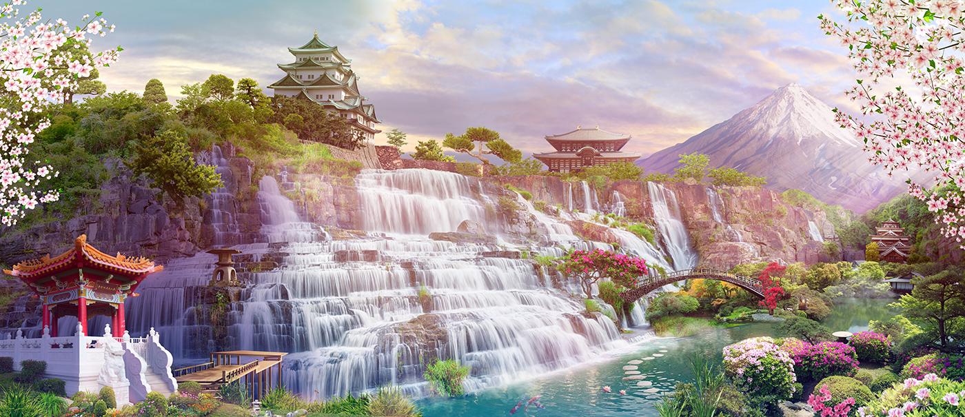 6 Японские водопады